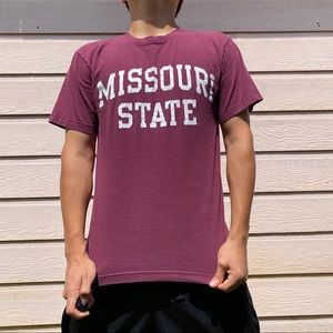 2000s Missouri State Maroon T-Shirt Size S